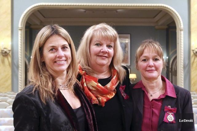 Josée Pilotte, Rachel Lacroix-Pilon et Janelle Lanoix ont... (Patrick Woodbury, LeDroit)