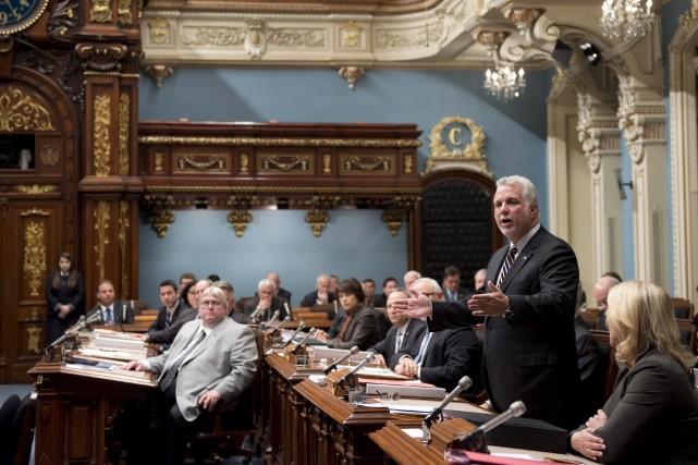 Le premier ministre du Québec, Philippe Couillard.... (Photo Jacques Boissinot, La Presse Canadienne)