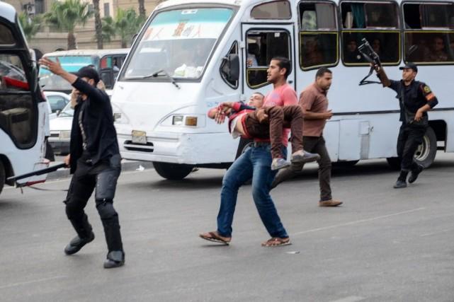 L'Égypte est le théâtre d'une vague d'attentats visant... (PHOTO MAHMUD HASAN, AFP)