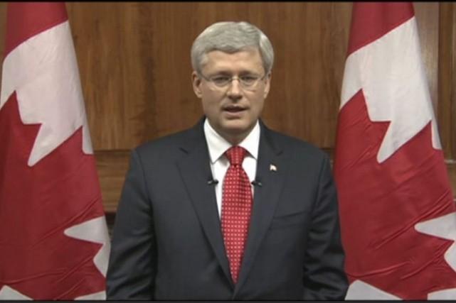 Le premier ministre Stephen Harper a affirmé que... (PHOTO LA PRESSE CANADIENNE)