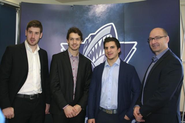Frédérik Gauthier, Philippe Desrosiers, Anthony DeLuca et Samuel... (Photo collaboration spéciale, Carl Thériault)