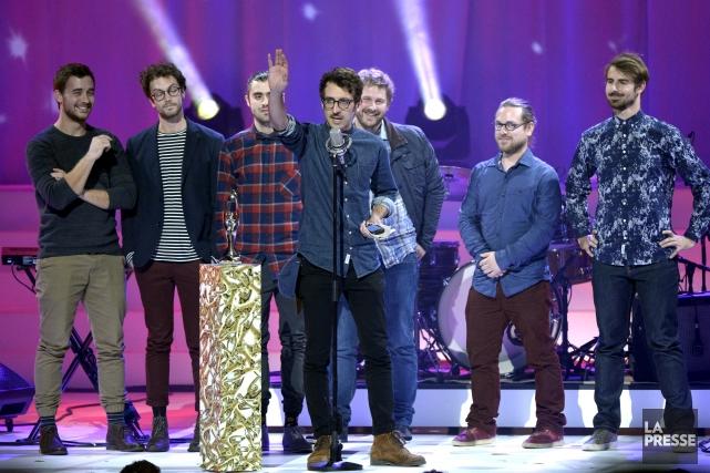 Le groupe Misteur Valaire a remporté le Félix... (Photo La Presse, Bernard Brault)