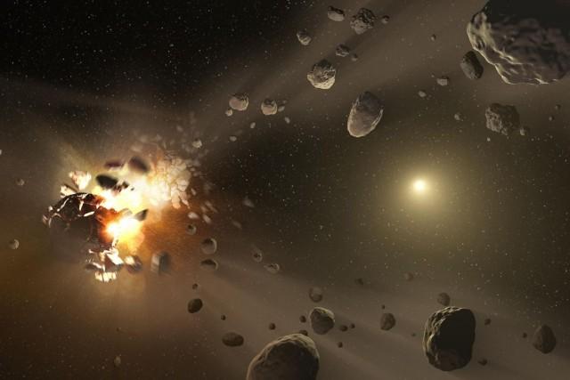 Les astéroïdes sont de gros rochers qui tournent... (PHOTO ARCHIVES AFP/NASA)