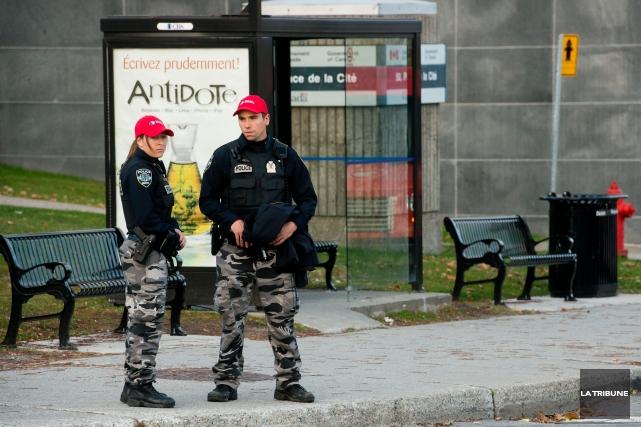 Même si le calme est revenu à Ottawa, le Service de police de Sherbrooke (SPS)... (Imacom, Jessica Garneau)