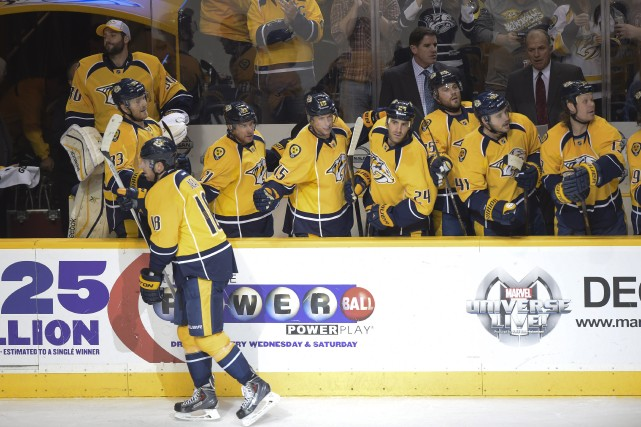 Sur la glace,James Neal... (Photo Don McPeak, USA Today Sports)