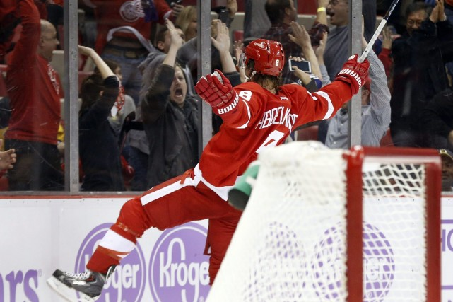 Justin Abdelkader a marqué à 4:16 en prolongation et les Red Wings de Detroit... (Photo Paul Sancya, AP)