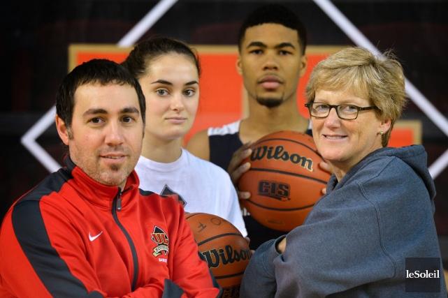 Les entraîneurs Jacques Paiement fils et Linda Marquis... (Le Soleil, Yan Doublet)
