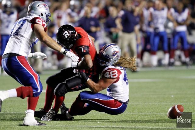 Les Alouettes ont remporté une victoire de 15-7... (Photo Fred Chartrand, PC)