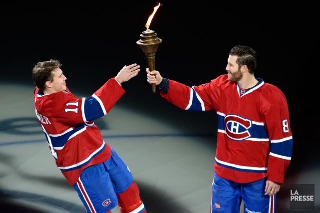 Brendan Gallagher et Brandon Prust... (Photo Bernard Brault, La Presse)