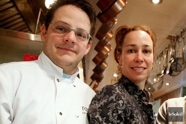 Frédéric Laplante et Karen Therrien, propriétaires du restaurant... (Photothèque Le Soleil, Yan Doublet)