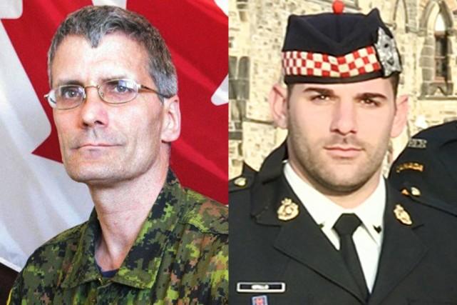 L'adjudant Patrice Vincent et le caporal Nathan Cirillo.... (Photos Reuters)