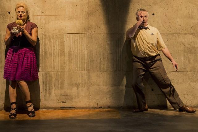 Sylvie Moreau et Jean Asselin dans la pièce... (Photo: Catherine Asselin-Bélanger, fournie par Omnibus)