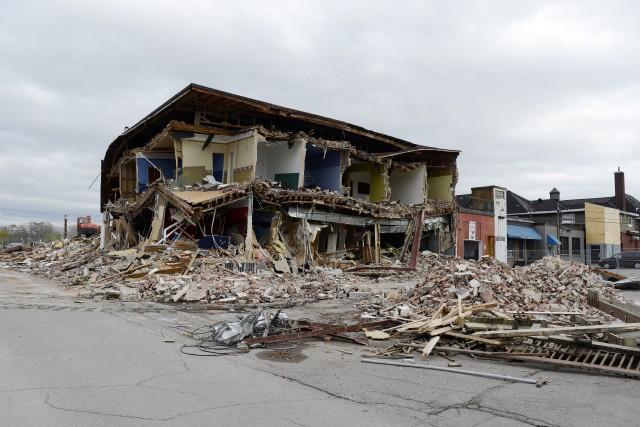 Le vieil édifice abritant jadis le restaurant-bar, l'Odyssée,... ((Archives))