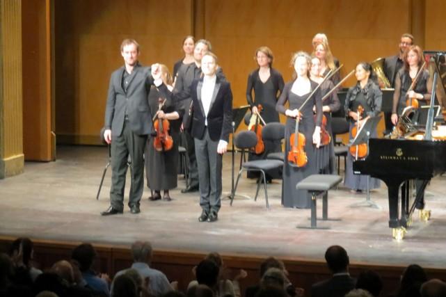 Le pianiste parisien Alexandre Tharaud (au centre avec... (Collaboration spéciale Josianne Desloges)