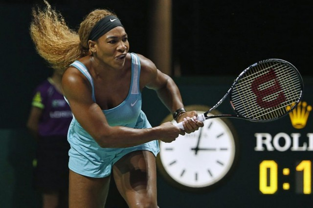 Serena Williams a éliminé Eugenie Bouchard, plus tôt... (PHOTO EDGAR SU, REUTERS)