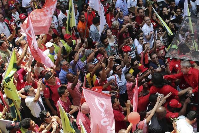 L'ancien président Luiz Inacio Lula da Silva, à... (Photo Nacho Doce, Reuters)
