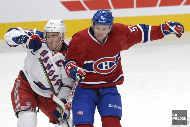 Ryan McDonagh (27) et David Desharnais.... (PHOTO BERNARD BRAULT. LA PRESSE)