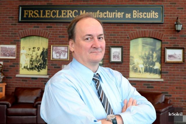 Le président du Groupe Biscuits Leclerc, Denis Leclerc,... (Photo Le Soleil, Erick Labbé)
