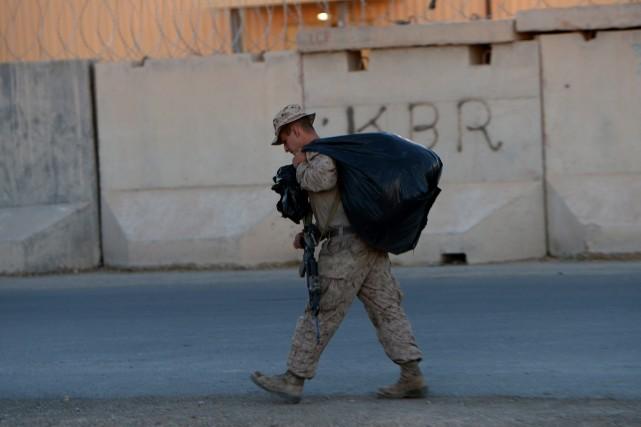 Au plus fort de la présence de la... (Photo WAKIL KOHSAR, AFP)