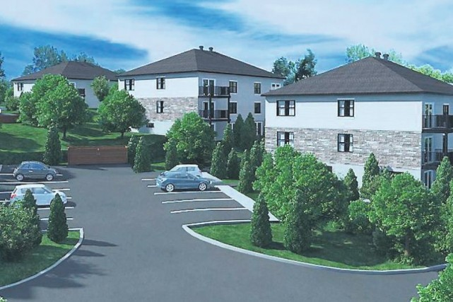 Six nouveaux édifices à logements pourraient voir le jour en bordure de la rue... (Maquette fournie)