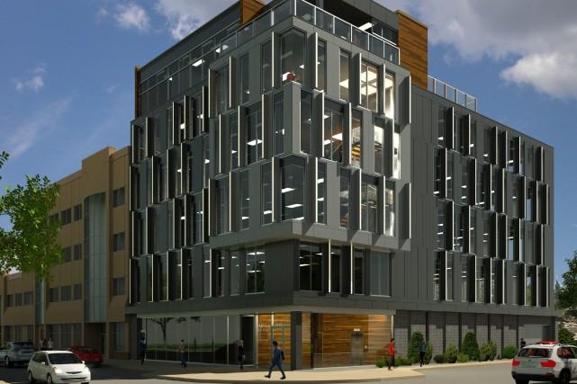 Le nouvel édifice de six étages nécessitera un... ((Courtoisie))