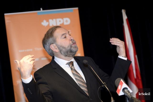 Le chef du NPD Thomas Mulcair était à... (Le Soleil, Jean-Marie Villeneuve)