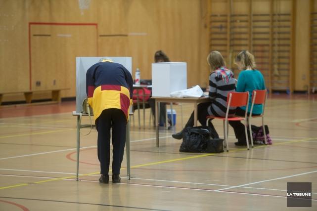 C'était hier que se tenait le vote par anticipation pour les élections... (Imacom, René Marquis)