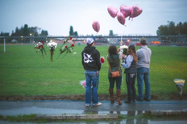 La fusillade survenue vendredi à l'école Marysville-Pilchuck, une... (PHOTO JOSHUA TRUJILLO, AP/SEATTLEPI.COM)