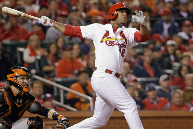 Oscar Taveras, l'un des espoirs les plus en... (Photo David J. Phillip, archives AP)