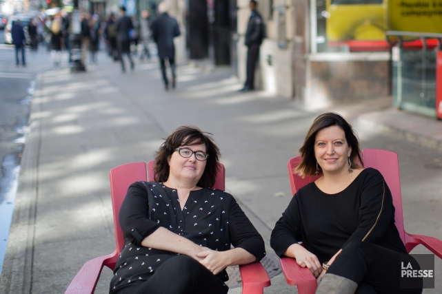 Les (Z)imparfaites Nancy Coulombe et Nadine Descheneaux... (Photo Edouard Plante-Fréchette, La Presse)