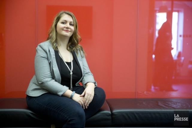 Céline Lebret, 31 ans, est coordonnatrice administrative chez... (PHOTO FRANÇOIS ROY, LA PRESSE)