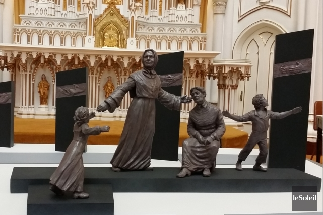 La sculpture de Jules Lasalle, dont on voit... (Le Soleil, Valérie Gaudreau)