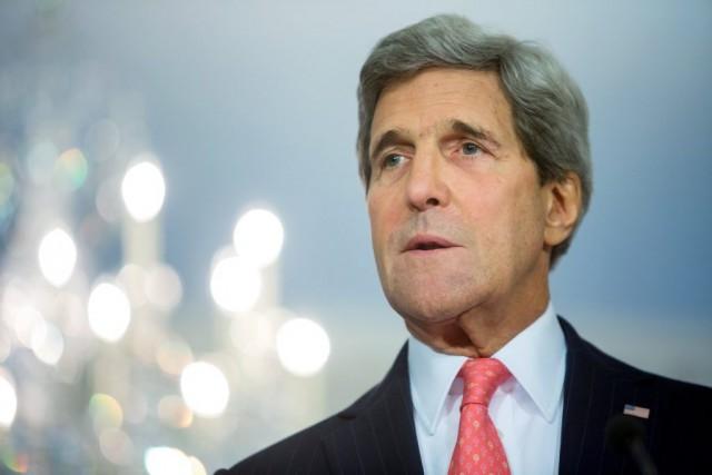 Le secrétaire d'État américain John Kerry.... (PHOTO JONATHAN ERNST, REUTERS)