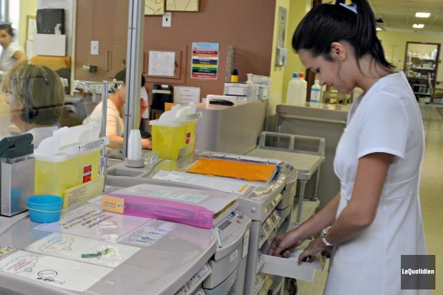 Le taux de croissance des effectifs des infirmières en Estrie au cours des... (Archives Le Quotidien)