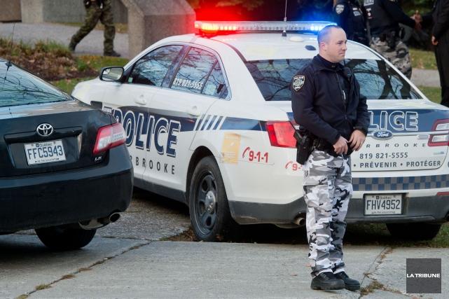 À l'instar de leurs collègues du reste du Québec, les agents du Service de... (Imacom, Jessica Garneau)