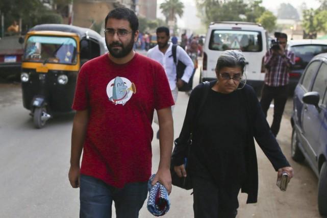 M.Abdel Fattah est jugé avec 24 coaccusés pour... (PHOTO MOHAMED EL-SHAHED, AFP)
