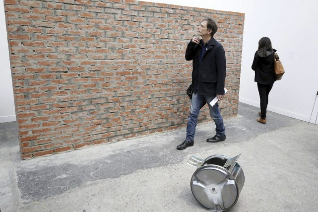 Les organisateurs de la Foire internationale d'art contemporain qui se tenait à... (Photo AFP)