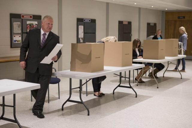 L'ancien maire Rob Ford a prédit une victoire... (Photo Chris Young, La Presse Canadienne)