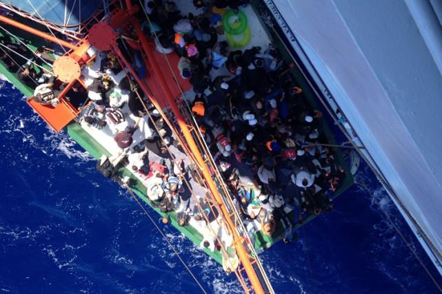 Un nombre record de 3072 migrants ont péri... (Photo: AP)
