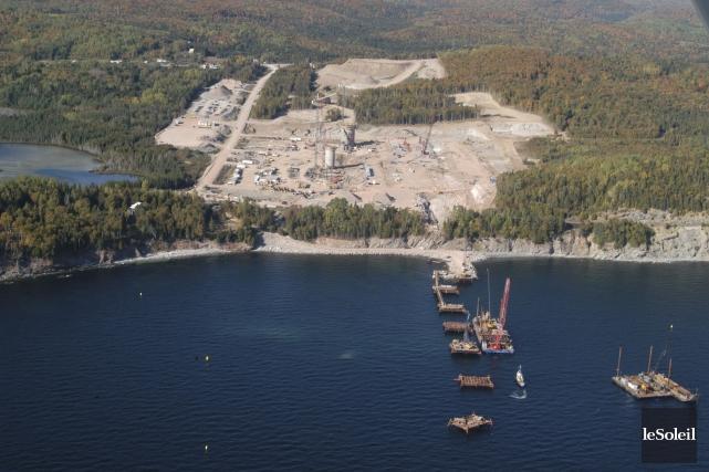 L'emplacement de la future cimenterie de Port-Daniel, au... (Photothèque Le Soleil, Gilles Gagné)