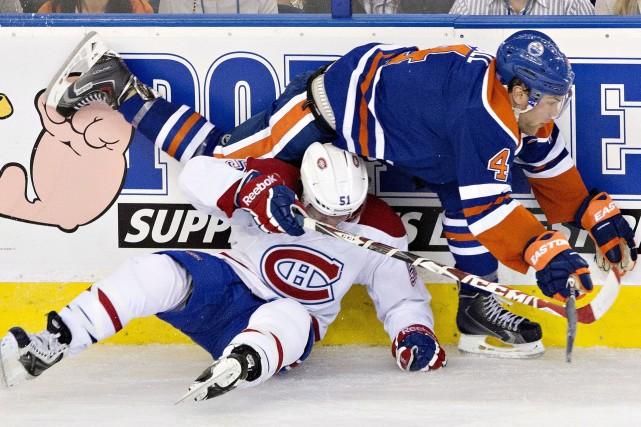 David Desharnais n'a pas eu l'avantage lors de... (La Presse Canadienne)