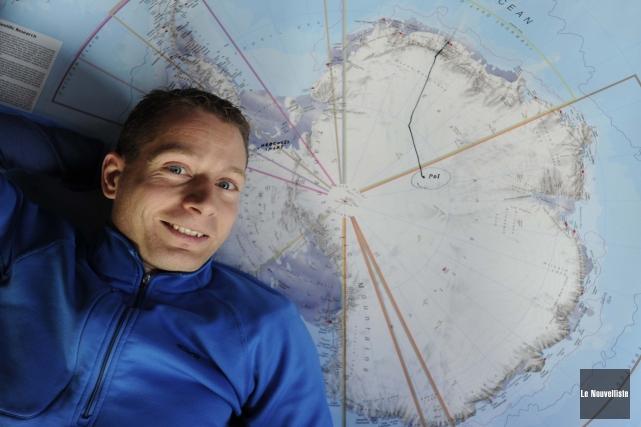 NDLR: L'aventurier Frédéric Dion souhaite atteindre le centre de... (Photo: Sylvain Mayer, Le Nouvelliste)
