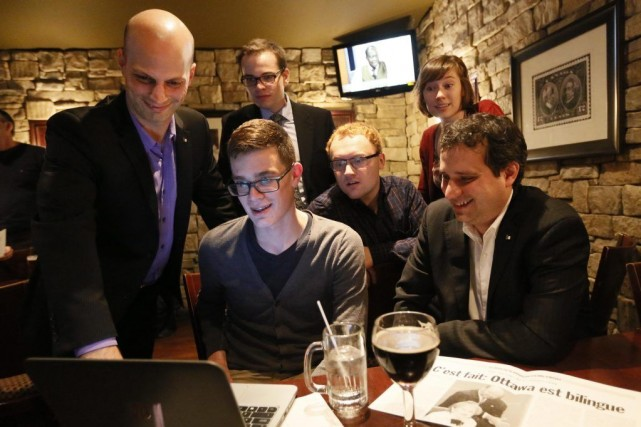 Le président de l'ACFO d'Ottawa, Alexandre Mattaro-Michaud, Patrick... (Simon Séguin-Bertrand, LeDroit)