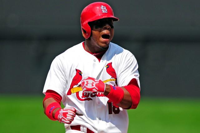 Le jeune voltigeur des Cardinals de St. Louis... (Photo Jeff Curry, USA Today Sports)