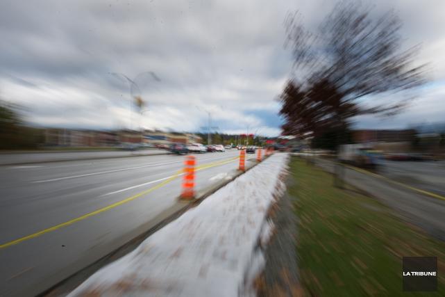 La Ville de Sherbrooke n'a aucune intention de cesser les travaux pour... (Imacom, René Marquis)