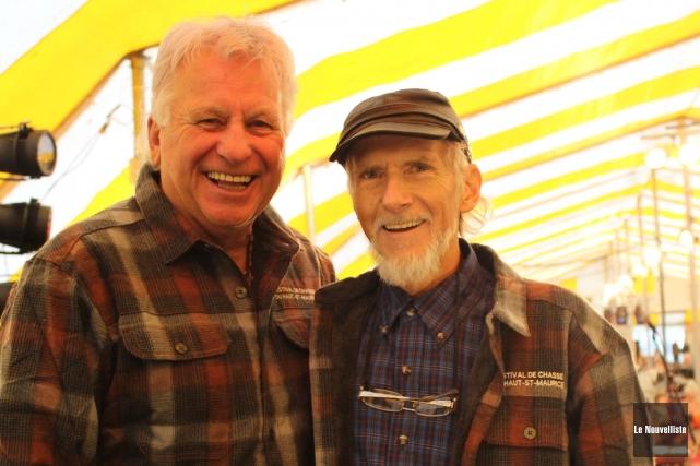 Denis Côté et Gilles Gosselin étaient très heureux... (Photo: Audrey Tremblay, Le Nouvelliste)