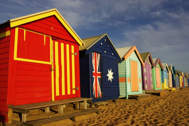 La plage de Brighton, en Australie.... (Photo Digital/Thinkstock)
