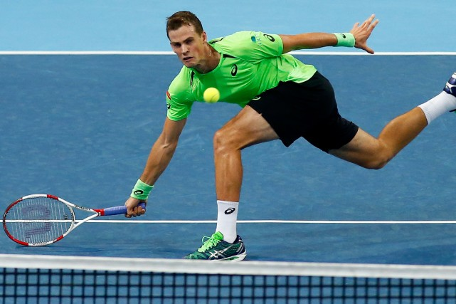 Vasek Pospisil... (Photo Arnd Wiegmann, archives Reuters)
