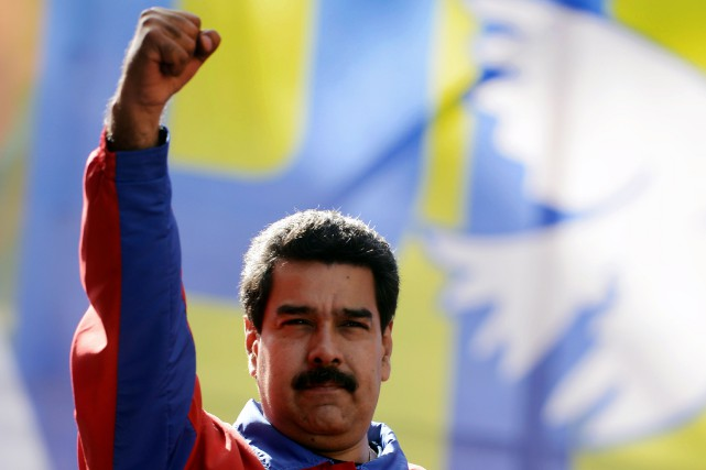 Le président du Venezuela Nicolas Maduro... (Photo LEO RAMIREZ, Archives AFP)