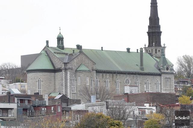 L'église Saint-Jean-Baptiste a été construite en 1882.... (Photothèque Le Soleil, Jean-Marie Villeneuve)